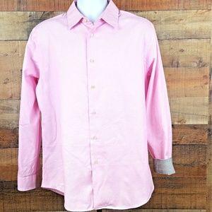 Van Heusen Long Sleeve Dress Shirt Men's Size M 15
